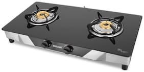 Hotsun 2 Burners Stainless Steel With Glass Top Gas Stove - Assorted