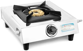 Hotsun 1 Burner Stainless Steel Gas Stove - Silver