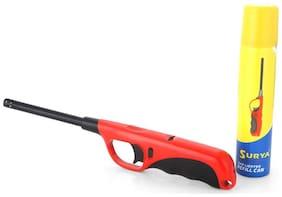 HOTSUN SURYA CITY MULTI PURPOSE FLAME LIGHTER & REFILL CAN Plastic Gas Lighter(MULTI COLOUR)