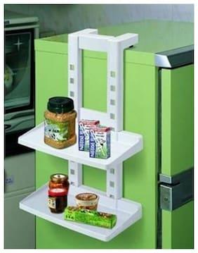 House of Quirk Kitchen Fridge Hanging Rack Refrigerator Shelf - White