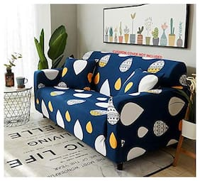 House of Quirk Universal Single Seater Sofa Cover Big Elasticity Cover for Couch Flexible Stretch Sofa Slipcover (Single Seater, Dark Blue Drop)