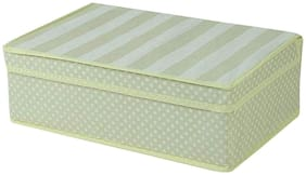 House of Quirk Foldable Multi Compartment Fabric Storage Box, Beige