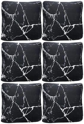 House of Quirk Polyester Throw Pillow Case Cushion Cover Home Sofa Decorative (Cover Only,No Insert) (Black Marble,6)