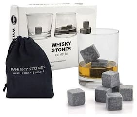 House Of Quirk Whiskey Stones Ice Stone Reusable Rocks Chilling Cubes In Gift Box With Velvet Pouch Set Of 9 Bourbon Whiskey