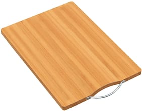 House of Quirk Thick Bamboo Cutting Board for Kitchen with Handles;Heavy Duty Chopping Board for Meat/Vegetables Fruits Serving Tray;Butcher Block;Carving Board(11.8 7.8)