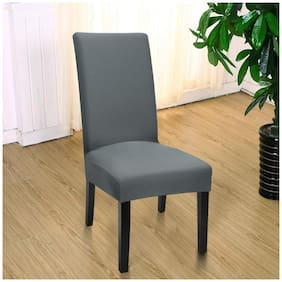 House of Quirk Elastic Chair Cover Stretch Removable Washable Short Dining Chair Cover Protector Seat Slipcover