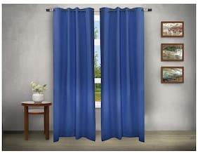 House This 210 Tc Blue 1 Window Curtain