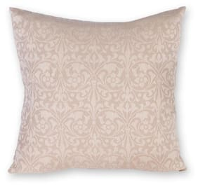 House This The Carved Wood 100 Cotton Cushion Cover Beige