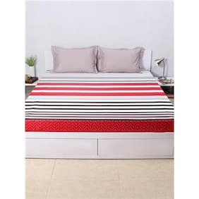 7e881b04da House This The Jester Stripes 100% Cotton 1 Double Fitted BedSheet & 2 Pillow  Covers