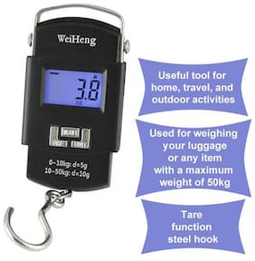 Household small Weight machine , 50kg Digital Heavy Duty Portable Weighing Scale for Kitchen and Luggage