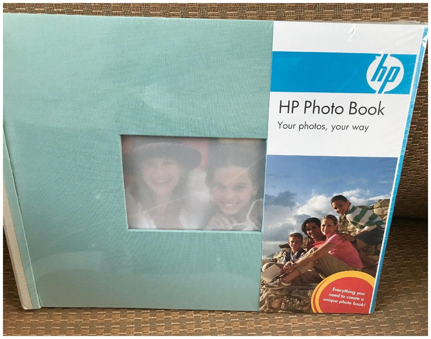 5 1//2 X 7 1//2 Cloth Cover 25 Pages HP Expandable Photo Book Indigo//Sky