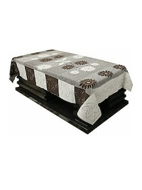 Hrdya Centre Cotton Table Cover Cloth Set Of 1 (Brown)