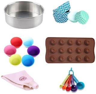Hua You Cake Chocolate Cupcake Mould Bakeware Combo of 6 Items