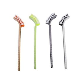 HUM SINGLE SIDEED BRISTLE HOCKEY TOILET CLEANING BRUSH MULTICOLOR ( SET OF 2 PCS.)