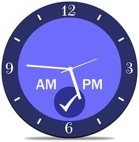 Huppme Wood Analog Wall clock ( Set of 1 )