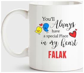 Huppme Falak Always Have A Special Place In My Heart Love White Coffee Name Ceramic Mug