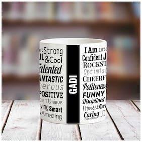 Huppme GADI Good Personality White Ceramic coffee Name Mug