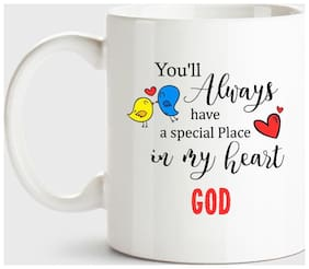Huppme God Always Have A Special Place In My Heart Love White Coffee Name Ceramic Mug