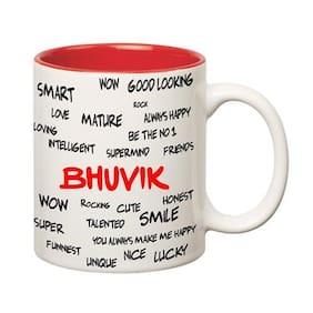 Huppme Good Personality Bhuvik Inner Red Mug