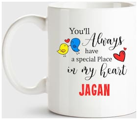 Huppme Jagan Always Have A Special Place In My Heart Love White Coffee Name Ceramic Mug
