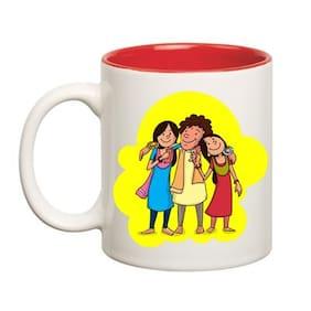 Huppme Two Sister Inner Red Mug