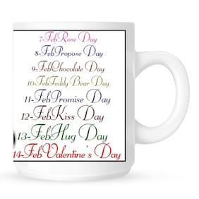 Huppme Valentine Week White Mug
