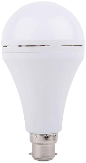 i-Birds AC/DC Polycarbonate 12 W Rechargeable Emergency LED Bulb with B22