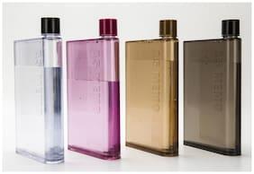 i-gadgets Plastic Assorted Water Bottle ( 420 ml , Set of 4 )