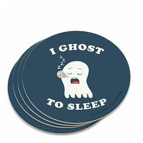 I Ghost to Sleep Goes Funny Humor Novelty Coaster Set