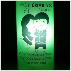 Ferns N Petals I Love You Because Lamp