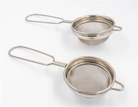 i WARE KkitchenCare Classic Wire Handle Tea/Coffee Strainer, Set of 2 (7.5cm, 9.2cm)