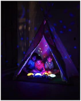 IBS Night Stars Sky Constellations Led Child 6 Sleeping Projector Night Lamp (9 cm;Multicolor)