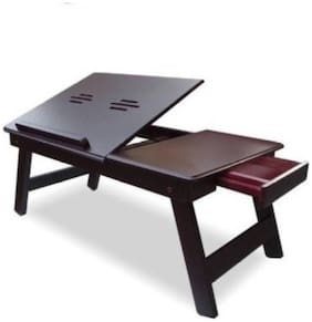 Ibs Solid Wood Portable Laptop Table 557 (Finish Color - Brown)