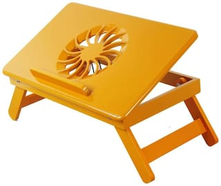 Ibs Table Mate II Heavy Duty Kids Office Study Reading Adjustable Wooden 557 Orange Bed Mate Engineered Wood Portable Laptop Table (Finish Color - Orange)