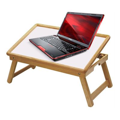 ibs tablemate wooden white top portable laptop table