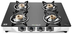 IDEALE 4 Burners Gas Stove - Black