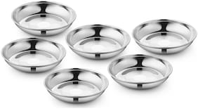 Ideale Daavat Mithaee Plet 6 Pcs Desert Serving plate Plate Set  (Pack of 6)