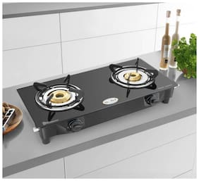 IDEALE 2 Burner Regular Black Gas Stove ,