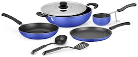 Ideale Non Stick Cookware Set of 7 Ocean Blue