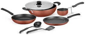 Ideale Non Stick Cookware Set of 7 Burnt Orange