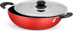 Ideale Non Stick Kadhai 24 cm with Lid  (Aluminium, Stainless Steel, Non Stick)