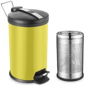 Ideale Padle Bin Dustbin + Free Perfortated Steel Bin