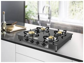 IDEALE 4 Burner Regular Black Gas Stove ,
