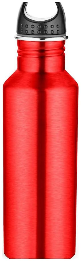 Pexpo 750 ml Stainless Steel Red Water Bottles - Set of 1