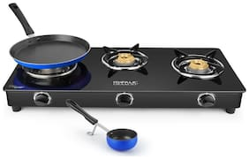 Ideale Trego-TT Steel Manual Gas Stove  with Tawa & Tadka pan