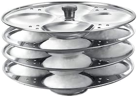 PUHUHP Idli Maker Induction Friendly ( Stainless Steel , Set of 1 )