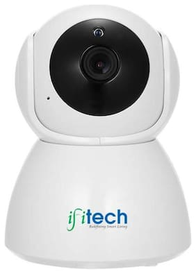 IFITech IP Series Wireless HD Wi-Fi CCTV Indoor Security Cameras(Support Upto 128 GB SD Card) [Watch Live Demo Before Purchase] (IFIPT1)