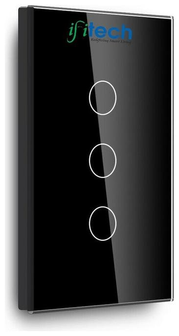 IFITech Smart Home Automation Touch Switch 3 Gang;WiFi Control Switch;Tempered Glass -...