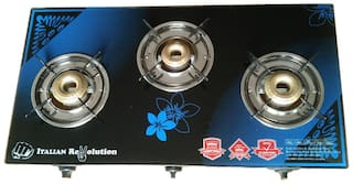 IGNOTO 3 Burner Automatic Regular Blue Gas Stove ,