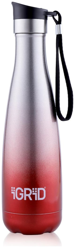 IGRID STWB15 500 ml Stainless Steel Thermosteel Bottles ( Red )